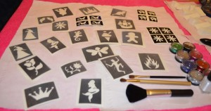 Princess Pamper Party Make Up Glitter Tattoos